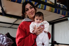Refugee mother and child in Harmanli camp